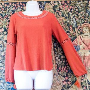 Peasant blouse River Island  Coral orange